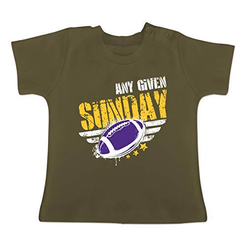 American Womens Light T-shirt (Sport Baby - Any Given Sunday Football Minnesota - 1-3 Monate - Olivgrün - BZ02 - Baby T-Shirt Kurzarm)
