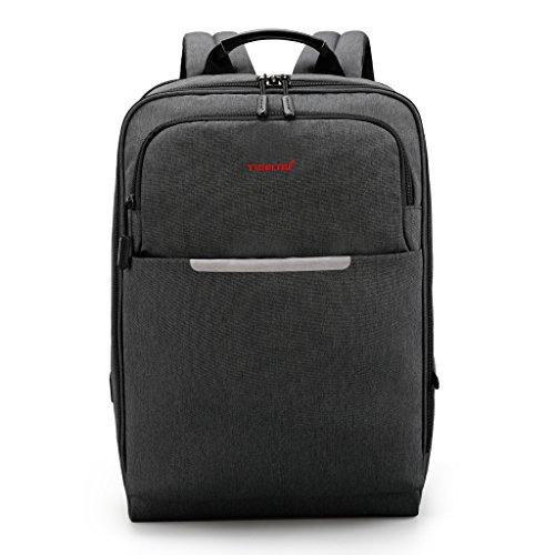 Norsens15.6 Zoll Slim Rucksack mit USB Wasserdicht Notebook Rucksack Schwarz 6dfa48be22