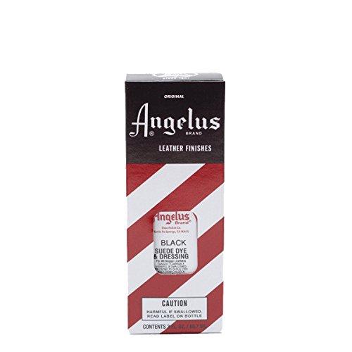 Angelus Suede Dye ist geeignet für Wildleder Nappaleder Nubukleder Leder färben Lederfarbe verschiedene Farben 88 ml (Schwarz) (Färben Leder Schwarz)
