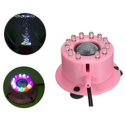 Nrpfell EU-Stecker Mini Bunte Luft 12 LED Unterwasser-Bubble Aquarium Fisch Tank Licht AC100-240V
