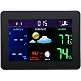 Magideal Digital LCD Wireless Projector Alarm Clock Home Weather Station Calendar