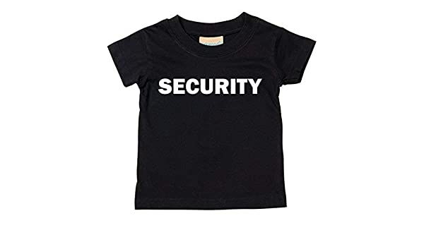 42b44354cc Security T-Shirt Baby Und Kindergrößen - Schwarz, 0-6 Months: Amazon.de:  Baby