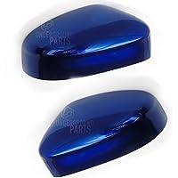 Underground Parts izquierda y derecha par de side espejo retrovisor Covers Caps impacto profundo azul