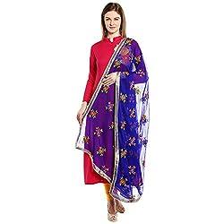 Dupatta Bazaar Womens Dupatta (DB1242_Royal Blue_Free Size)