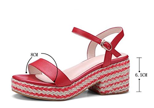 Bohemia Platform Casual Donne Sandali OL Casual Mid Heel Outsoles antiscivolo Casual Fashion Walk Shoes di sicurezza UE Size 34-40 apricot