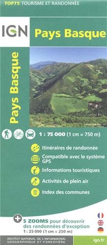 TOP75023 PAYS BASQUE  1/75.000