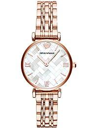 bf6cb9062d56 Emporio Armani Reloj Analogico para Mujer de Cuarzo con Correa en Acero  Inoxidable AR11110