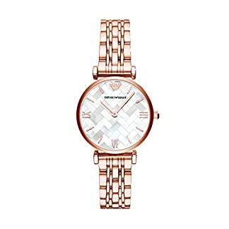 Emporio Armani Reloj Analogico para Mujer de Cuarzo con Correa en Acero Inoxidable AR11110