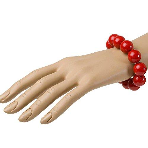 NEU Armband, 70er Jahre, Perlen, rot