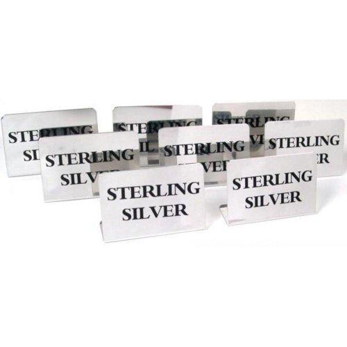 Findingking 8 panneaux d'affichage vitrine en argent sterling Bijoux