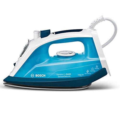 Bosch TDA1024210 Dampfbügeleisen Sensixx'x DA10 Sensor Secure (2400 Watt max., Dampfstoß 140 g/min., Extra-Dampf 35 g/min., PalladiumGlissee Bügelsohle, menge) magic night blau/eisblau