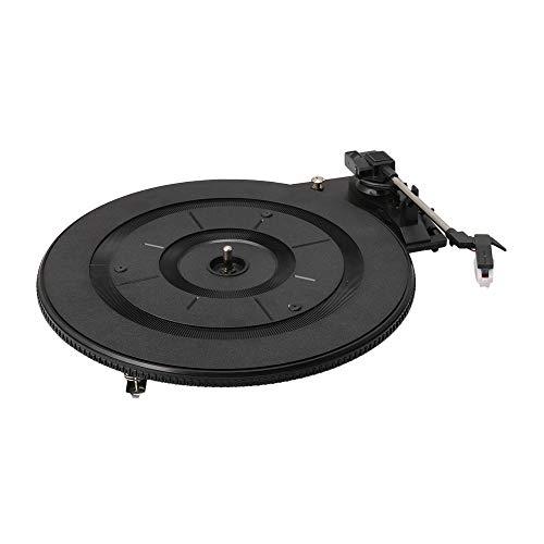 BQLZR - Tocadiscos de plástico negro de 27,6 cm de diámetro, automático, vintage, para la actividad doméstica, instrumento musical clásico