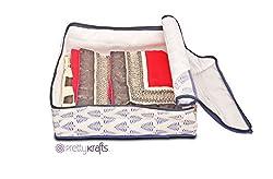 PrettyKrafts Ethnic Saree Cover Square - Lehanga Cover - Wardrobe Organizer - Capacity - 8 sarees