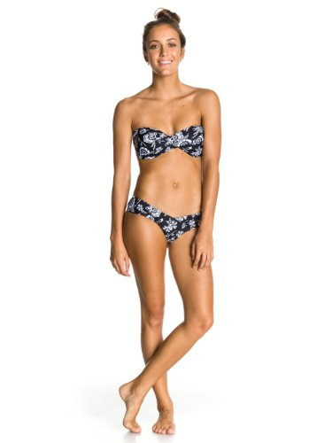 Roxy Damen Bikini Twist Bandeau Sweetheart Pants, True Black, S, ARJX200039-KVJ6 (Twist Roxy)