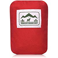 """Reliable Outdoor Gear """"Pocket Blanket"""" (Traveler's Ground Sheet) for Hiking, Camping, Beach and Picnic - Water Resistant, Compact Storage Pouch, Weights 140 Grams, Measures 1.9 x 1.27 Meters …"""