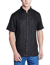 Tommy Hilfiger Mens Casual Shirt (8903876831650_P6AMW066_Medium_Black)
