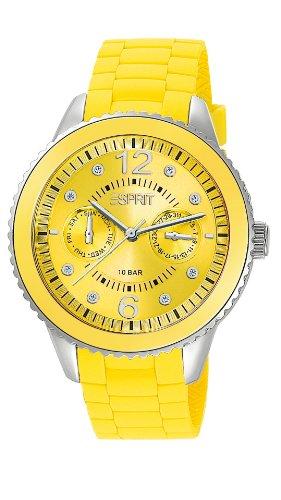 ESPRIT-ES105332011-Ladies Watch-Analogue Quartz-Yellow Dial-Silicone Wristband Yellow