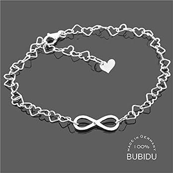 Armband Damen 925 Silber Infinity Silberarmband Unendlich Herzarmband Damenschmuck Schmuck Liebe Unendlich Zeichen…