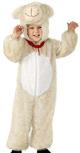 Kostüm Ohren Lamm - Fancy Ole - Jungen Boy Lamm Kostüm, Karneval, Fasching, 134, Beige