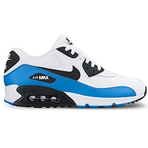 Nike Air Max 90 Essential, Baskets mode homme Blanco (White / Black-Photo Blue-Black)