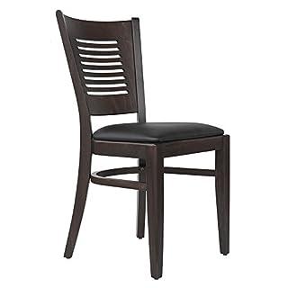 abritus Set 2 Stühle Stuhl Küchenstuhl Esszimmerstuhl Buche massiv mit Polstersitz *TG004