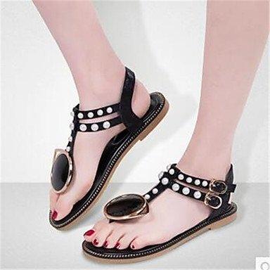 RTRY Donna Stivali Inverno Mary Jane Pu Casual Chunky Heel Black Us5.5 / Eu36 / Uk3.5 / Cn35 US8.5 / EU39 / UK6.5 / CN40