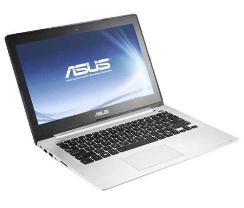 Asus VivoBook S300 33,8 cm (13,3 Zoll) Notebook (Intel Core i3 3217U, 1,8GHz, 4GB RAM, 500GB HDD, Intel HD4000, Win 8) schwarz ,QWERTZ