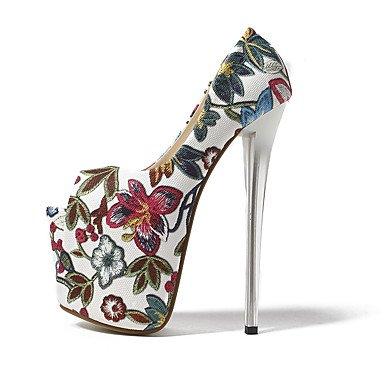RTRY Donna Talloni 19Cm Altezza Tacco Sexy Peep Toe Stiletto Heel Pompe Scarpe Di Partito Più Colori Disponibili US9.5-10 / EU41 / UK7.5-8 / CN42