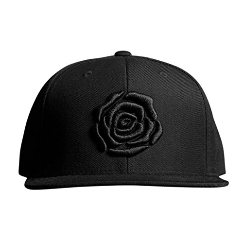 MARQUE NOIRE – ROSE Snapback - Cap, Baseball Caps, Herren Damen Unisex (Rüstung Brad)