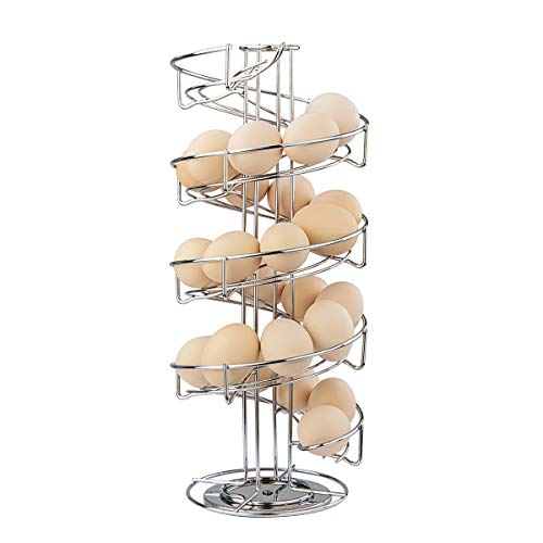 Toplife Distributeur à œufs Rangement façon Spirale