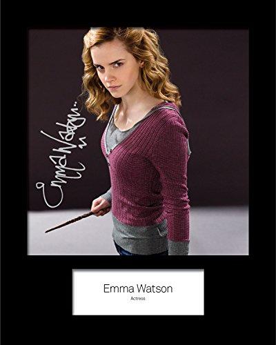 FRAME SMART Emma Watson #2 Harry Potter   Signierter Fotodruck   10x8 Größe passt 10x8 Zoll Rahmen   Maschinenschnitt   Fotoanzeige   Geschenk Sammlerstück