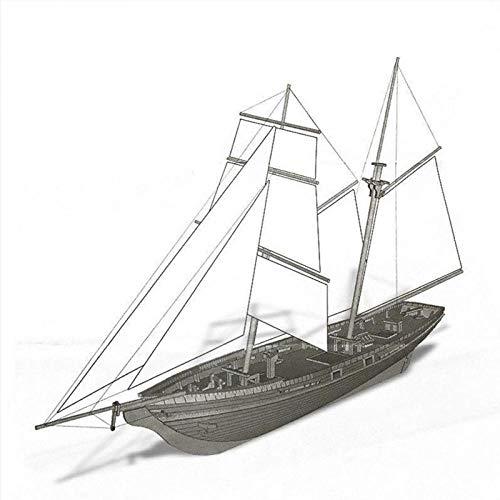 POTOLL Modellbausatz Schiff Wasserfahrzeug-Modellbausätze Model Schiff Hohe Qualität Neue Holz Segelschiff Boot Modell DIY Kits Montage 1:70 Skala Dekoration Spielzeug Geschenk 410Mm * 60Mm * 225Mm (Holz-boote-modelle)