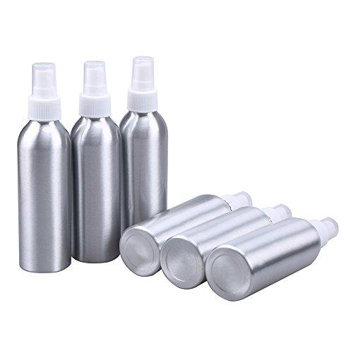6 Stück 150ml Sprüh Flasche Zerstäuber, WCIC Aluminium Sprühflasche Wieder auffüllbar Reise Kugel-Stil Fein Nebel Zerstäuber Flaschen zum Wesentlich Öl Bilden Toner