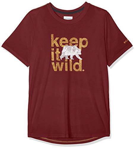 Columbia Kurzärmliges T-Shirt für Herren, MILLER VALLEY SHORT SLEEVE TEE, Polyester/Viskose, Rot (Tapestry), Gr. S, 1773231 -