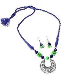 More Bangla Abhushan Metal Jewellary Set (Blue)