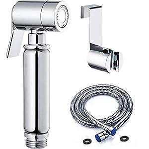 BbfStyle – Elegancia, Diseño y Calidad – Set de Ducha Bidé Toilet – Para higiene íntima – Acabado cromado – Tahret…