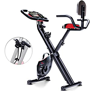Sportstech F-Bike X100 & X150-4in1 Heimtrainer-X Bike – Einzigartiges Zugbandsystem -Handpulssensoren -Ergometer -Hometrainer -Faltbares Fitness-Fahrrad -Tablethalterung Rückenlehne klappbar