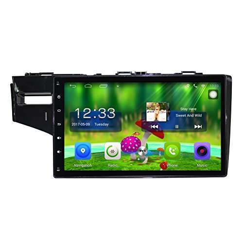 TOPNAVI 10.1 Inch Android 6.0 in Dash Car GPS Navigation for Honda fit 2014 2015 2016 with Canbus Car Full Touch Screen CAM IN Car Stereo Player Radio Wifi Bluetooth Carplay Octa Core Monitor