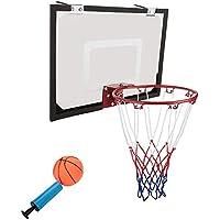 Cocoarm Basketball Rückwand, Wand montiert Mini Basketballkorb mit Basketball und Pumpe für Kinder Innenbereich, Rückwand Größe: 45× 30cm