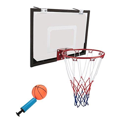 Cocoarm Basket, Fixation Murale Mini Panier de Basket-Ball avec Ballon de Basket et Pompe pour Enfants Utilisation en intérieur, Panneau Taille: 45× 30cm