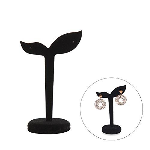 Tinksky Samt-Schmucksache-Ausstellungsstand für Ohrring-Bolzen-Anzeigen-Halter Bohnen-Sprossen-Form-Schmucksache-Organisator-Standplatz