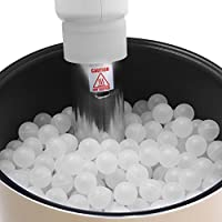 NutriChef PKSOUSBL250 Premium Sous Vide Balls, 250 White Balls, Includes Drying Bag for Precision Cookers & Immersion Circulators, Reduces Heat Loss