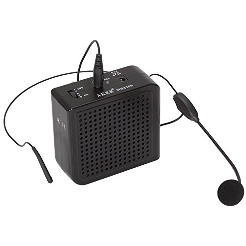 Raceka(TM) Klein Super Leistungsfähige Voice Ton Verstärker Amplifier Lautsprecher Bassverstärker 16 Watt tragbare Bund Ton Booster PA Verstärker(Schwarz)