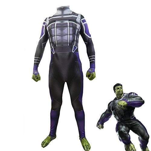 YXRL Espectáculo Navideño De Halloween Cosplay Marvel Hulk Cosplay Disfraz De Niño Adulto Men-XXL