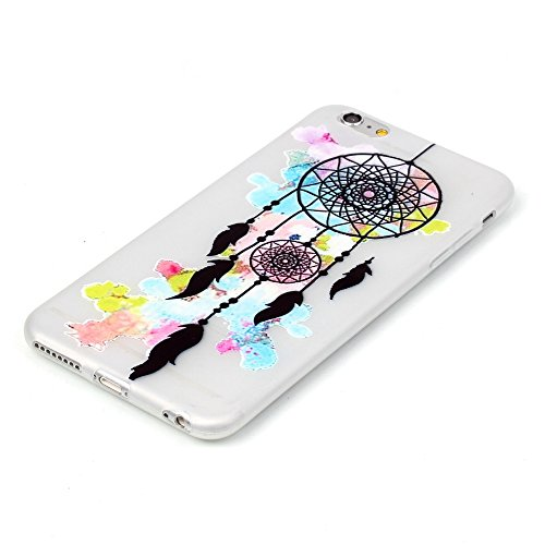 ISAKEN Custodia iPhone 6 Plus - Cover iPhone 6S Plus - Fashion Agganciabile Luminosa Cover Case con LED Lampeggiante per Apple iPhone 6(5.5) Ultra Slim Sottile TPU Cover Rigida Gel Silicone Protettiv acchiappasogni