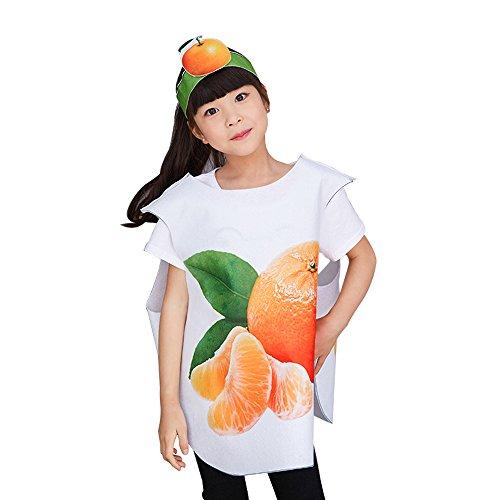 chte und Tier Kostüme Anzüge Outfits Kostümfest Party Kostüm für Jungen und Mädchen Kinderkostüm, orange, L(65cm*72cm) (Orange Frucht Kostüme)
