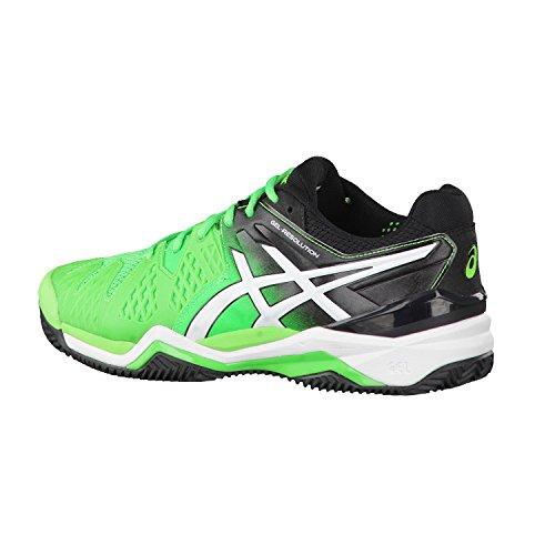 Asics Gel-Resolution 6Clay corte Scarpe da tennis Verde - Flash Green/White/Black