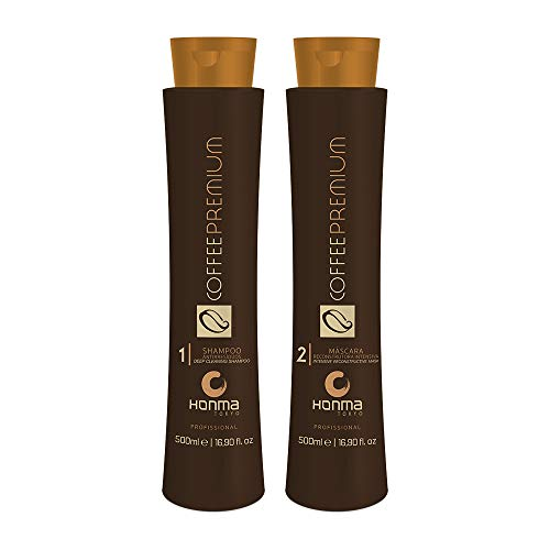 HONMA TOKYO - COFFEE PREMIUM - Kit Lissage brésilien - Step 1 (500 ml) + Step 2 (500 ml)
