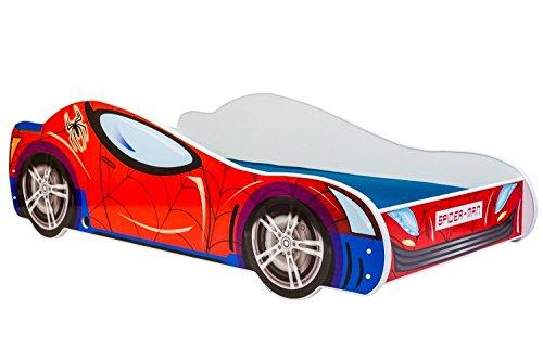 Lettino per bambini letto auto SPIDER CAR 160x80 con materasso