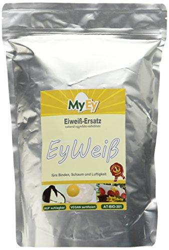 MyEy EyWeiß, Eiweiß-Ersatz, vegan, natürlich & voll aufschlagbar, mit pflanzlichen Proteinen, glutenfrei, 1er Pack (1 x 1 kg)